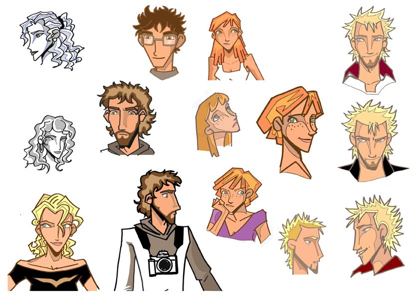 personajes by Gauziana